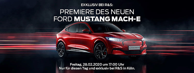 Exklusive Premiere des Ford Mustang Mach-E
